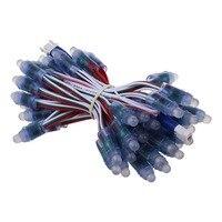 50PCS/Set 12mm DC 5V LED RGB WS2811 Digital Full Color Pixel Addressable LED Strip Lamp Waterproof IP68 DIY For Event Decoration