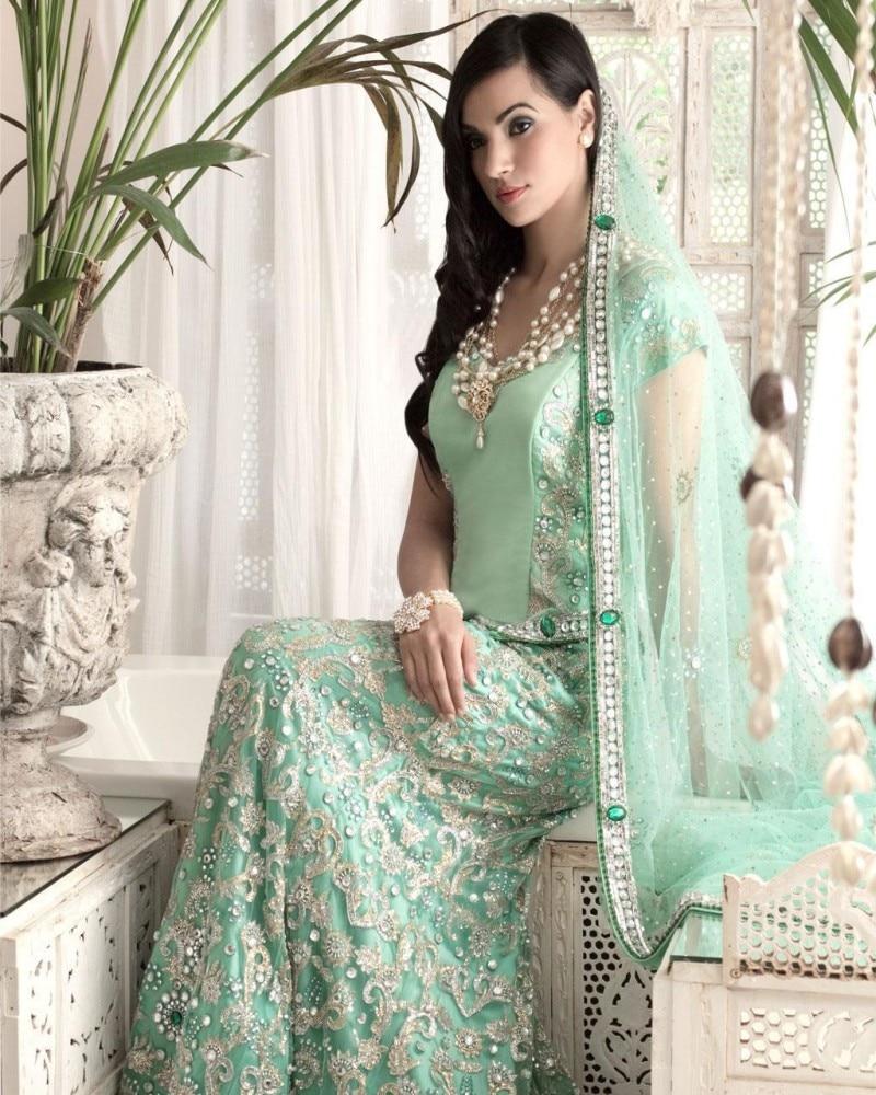 2017 indian bridal dress evening dress scoop embroidery. Black Bedroom Furniture Sets. Home Design Ideas