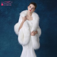 Wedding Bolero White Color In Stock Wedding jacket Faux Fur Boleros wedding Wraps Wedding Accessories Winter Bridal Cape DQG446