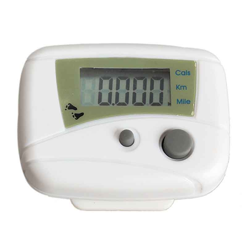 New White Color Calorie Calculation Function LCD Run Step Pedometer Walking Distance Calorie Counter Passometer Running Tool