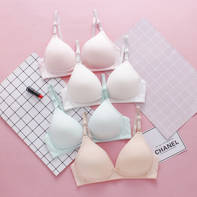 BEFORW Cotton Lining Bra Thin Push Up Bra Wire Free Women Bra Rear Double Row Buckle Sexy Bra Cozy Solid Color Lingerie