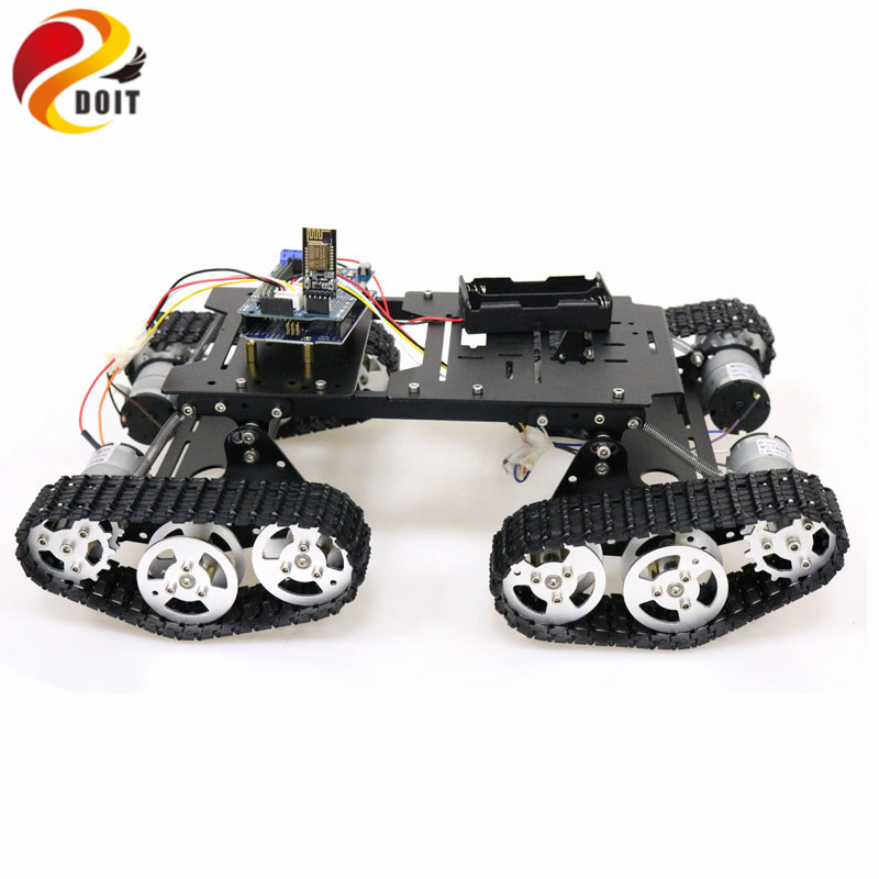 WiFi/Bluetooth/PS2 Control RC 4wd Robot Tank Chassis Kit with UNO R3 Board+ Motor Driver Board for Arduino DIY