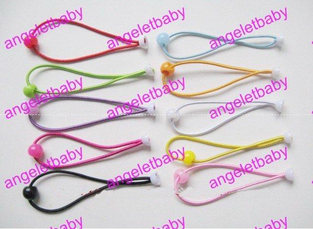 100 шт., аксессуары для волос для девочек, материалы, эластичные резинки для волос, резинки для волос с цветком сливы, FJ3301, 10 цветов - Цвет: Многоцветный