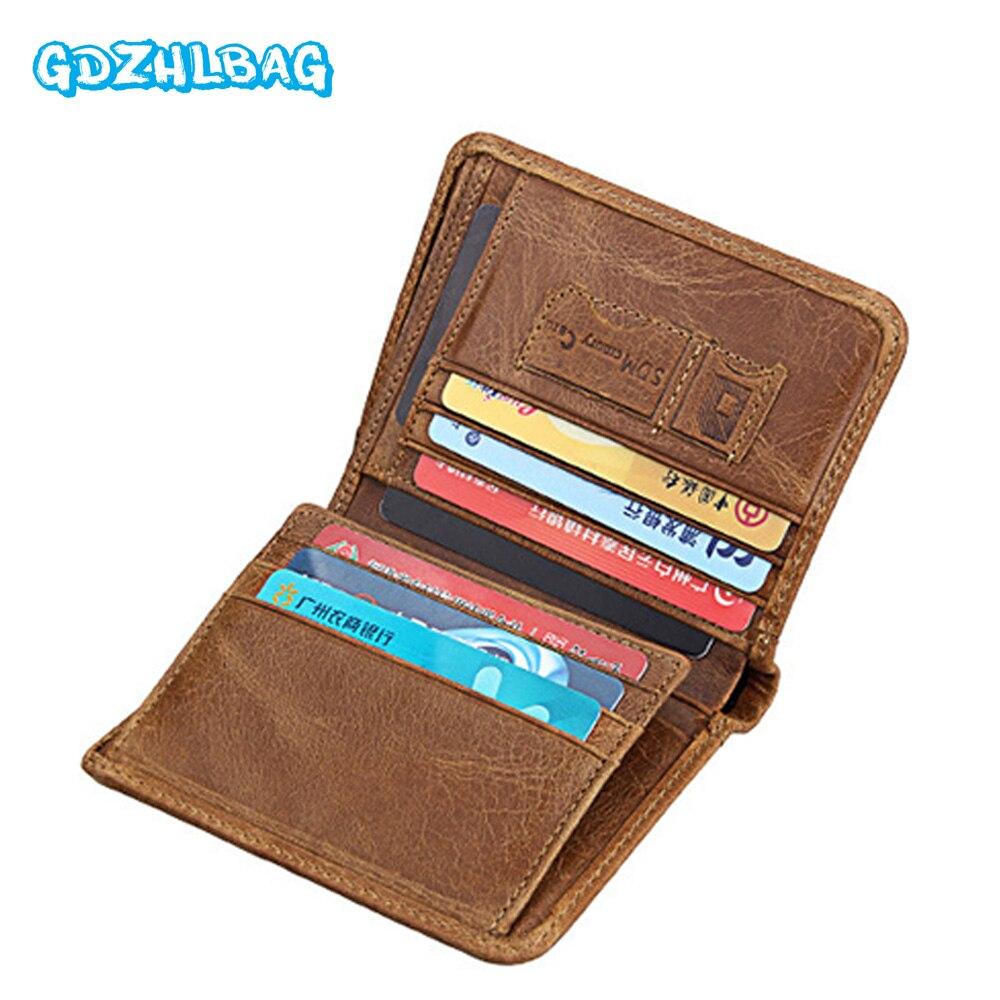 GDZHLBAG Genuine Leather Wallet Men Coin Purse Walet Portomonee PORTFOLIO Rfid Male Cuzdan Perse Pocket Fashion Money Bag