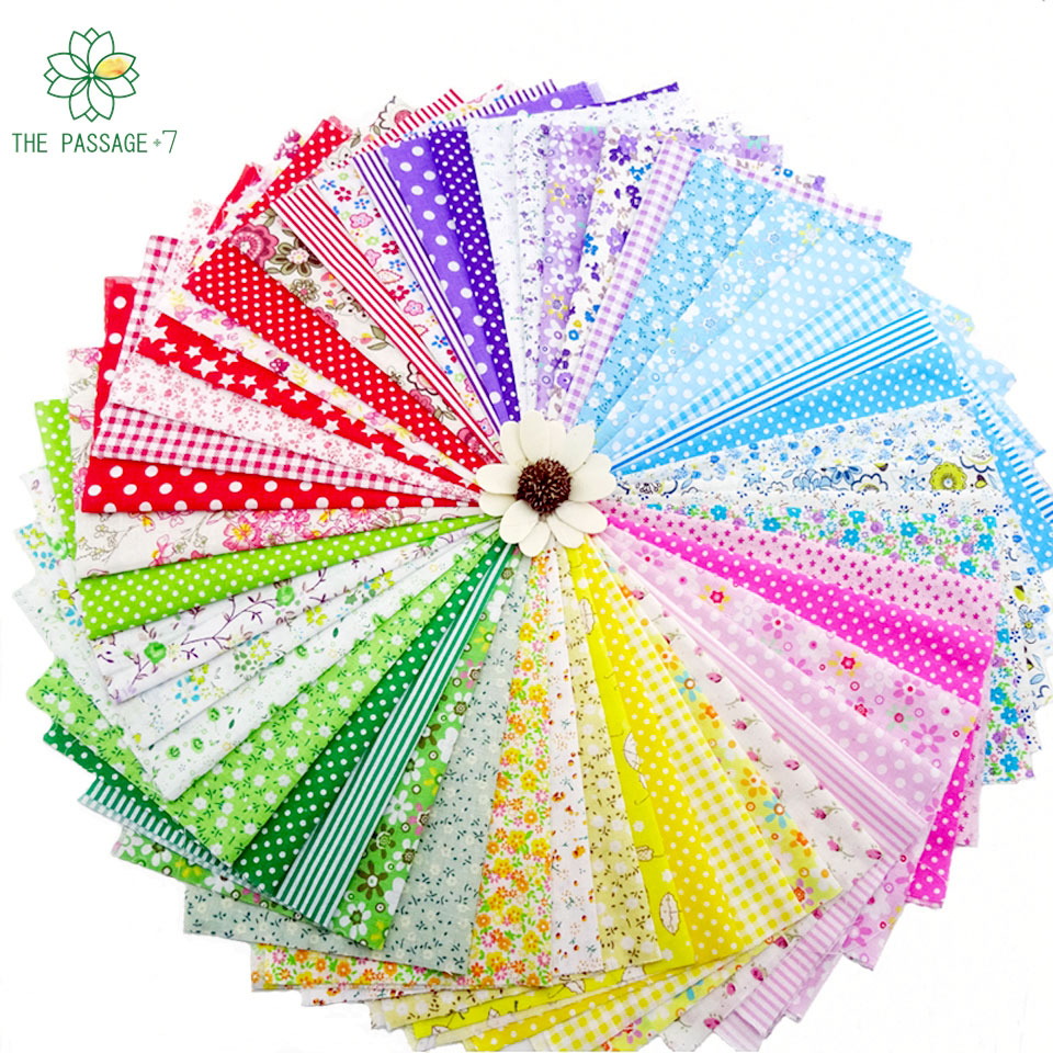 Fabric diy patchwork handmade cotton cloth group floral for Dressmaking fabric