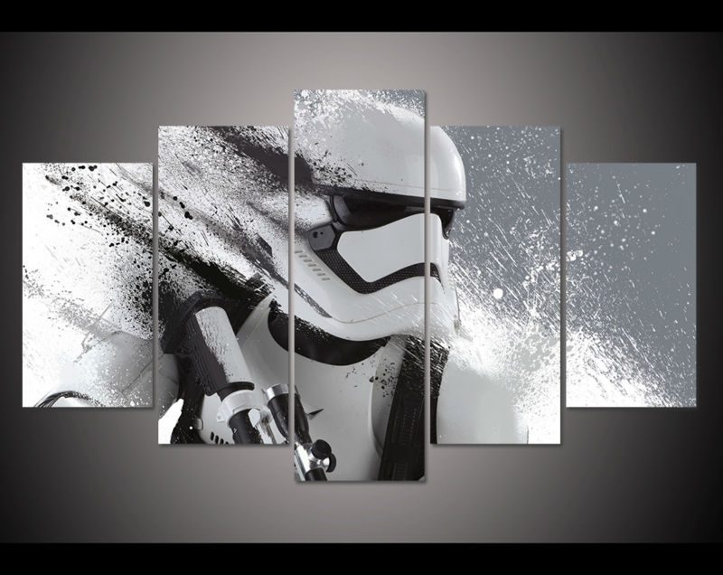 5 Panel Star Wars White Knight Modern Home Wall Decor Painting Canvas Art HD Print Painting Canvas Wall Picture For Home Decor-in Painting u0026 Calligraphy ... & 5 Panel Star Wars White Knight Modern Home Wall Decor Painting ...