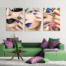 c1e070a01 Moda Pop Art Posters Unhas Coloridas Mulher Beleza Hd Impresso Pintura Da  Lona Moderna do Quarto