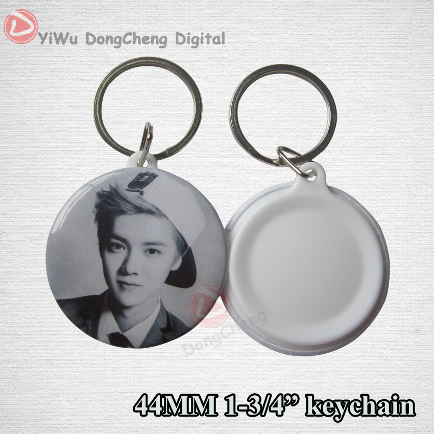 2016 customer new products of  badge keychian 44mm DIY keychain customization OEM orders welcomed  MOQ100pcs customer buying behavior of insurance policy