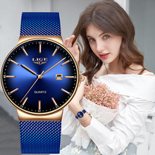 LIGE Brand Luxury Watch Women Fashion Quartz Watch Ladies Watches Sport Relogio Feminino Clock Lady Wristwatch Montre Femme 2019 relogio feminino fashion bracelet watch women luxury lvpai brand design watches lady diamond dial quartz watch montre reloj jo