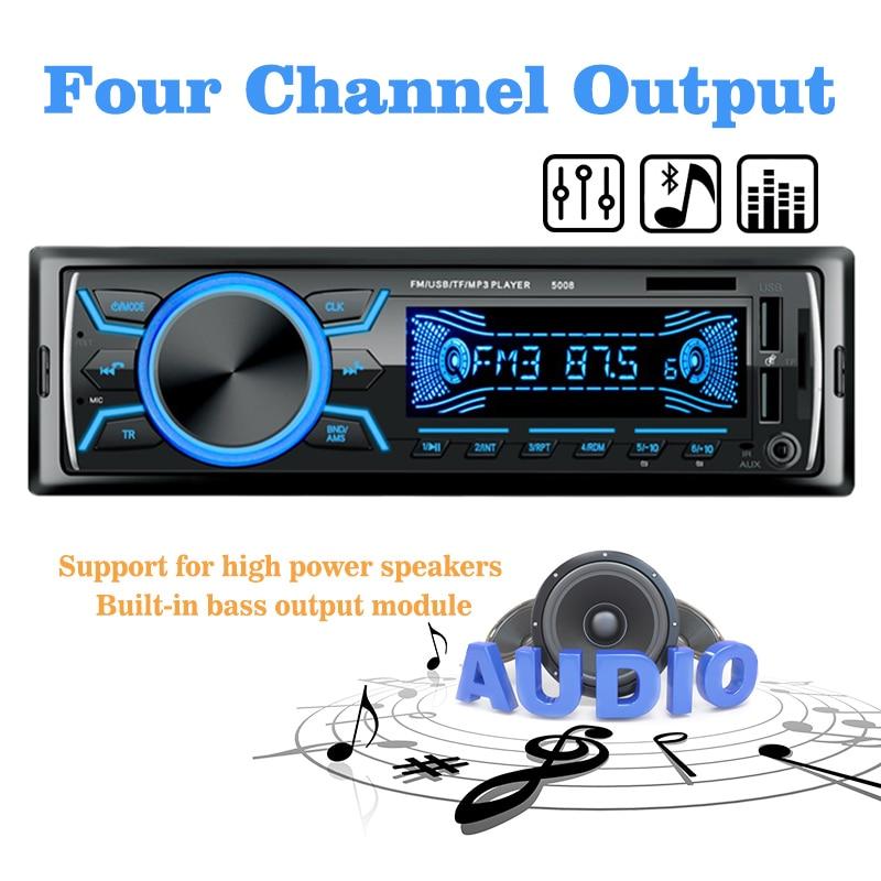 MP3/WMA/WAV форматы двойной USB Поддержка USB/TF кардридер Автомобильный MP3 плеер Bluetooth Новое поступление поддержка быстрой зарядки 12 В