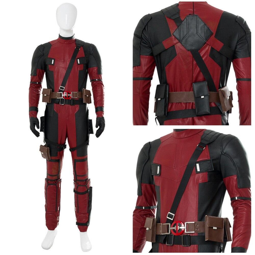 Cosplay Costume Deadpool 2 Wade Winston Wilson Cosplay Costume Full Set Adult Halloween Cospaly Costume