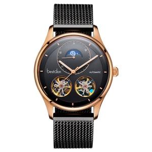 Image 5 - Bestdon montre automatique avec squelette, modèle à Tourbillon, pour hommes, suisse, marque de luxe, montre pour hommes