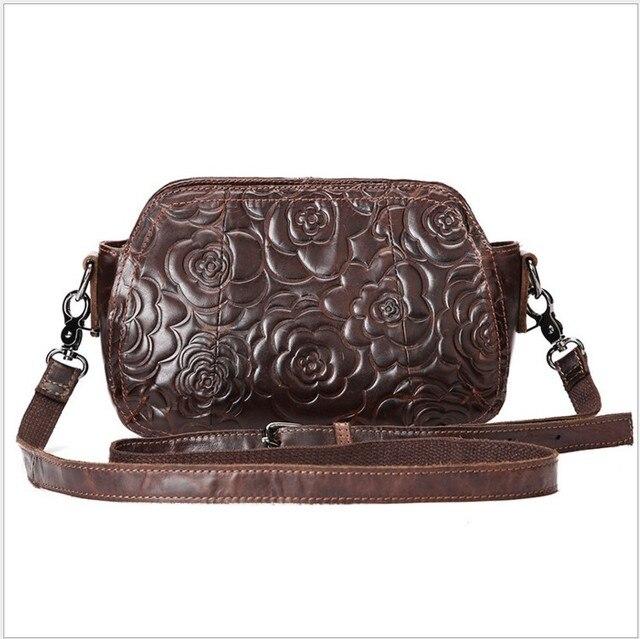 2016 New promotion women's genuine leather  handbag fashion women's cowhide shoulder bags Mini message  bag Wholesale