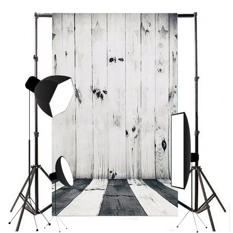 1pc 0.6x0.9m New Black White Wood Photography Background Wooden Floor Wall Backdrop Studio Props Mayitr