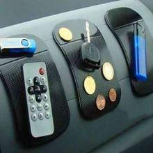 3 шт./лот Мощный Силикона Автомобиля Антипробуксовочная Мат Магия Без Коврик Стикер автомобиля Даш Мат Dashboard Sticky Pad Для Телефон GPS КПК