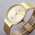 Super fino Quartz relógio de Pulso Casual Negócios JAPÃO Julius Marca Analógico Relógio de Quartzo dos homens de Aço Inoxidável relojes hombre 2016