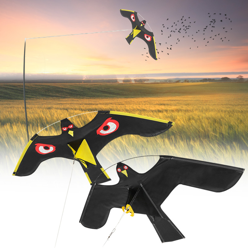 Emulation Flying Hawk Bird Scarer Drive Bird Kite For Garden Scarecrow Yard Home(China)