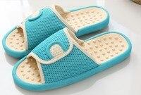 Cotton Foot Massage Slippers Health Shoe Sandal Reflex Massages Stone Acupuncture Healthy Feet Care Massager Slipper