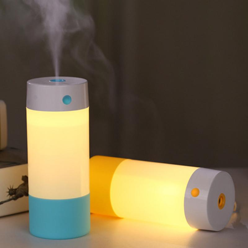 250 ml Cup USB Mini Ultrasonic Humidifier LED Light Air Purifier Atomizer Mist Maker Living Room Diffuser Mist Maker Fogger