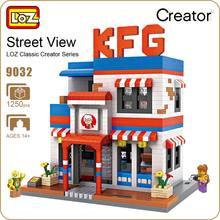 LOZ Diamond Blocks City Street Store Restaurant Mini Street View Model Building Kits Fast Food Shop DIY Educational Gift 9032