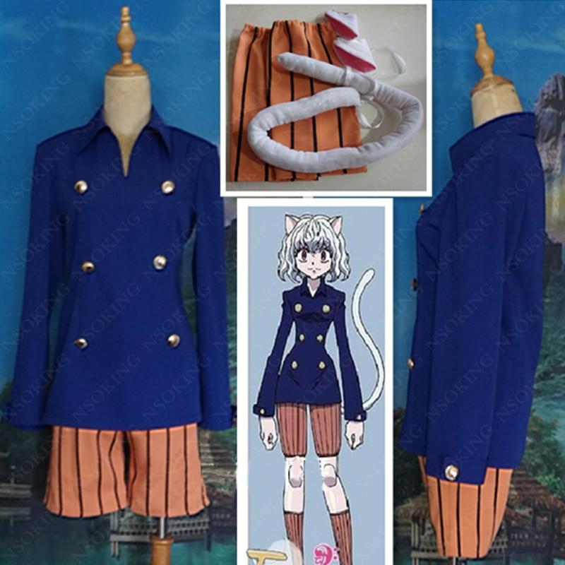 Anime Hunter x hunter Cosplay Neferpitou Halloween Party Costume Custom Made