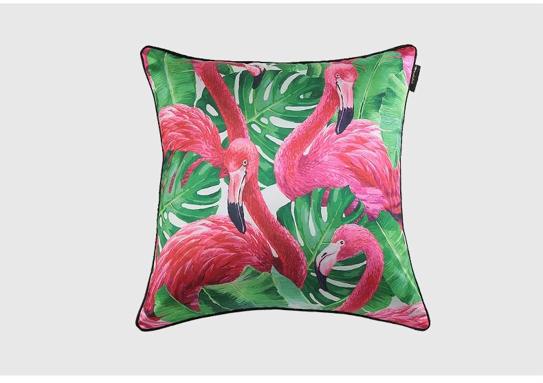 Dunxdeco kussenhoes decoratieve kussensloop imitatie zijde roze