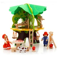 3D Children Wooden Toys DIY Tree House Disassembled Assembled Model Educational Toys Scene Play House Game