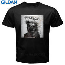 2017 New Fas hions Personalised Tee Shirts O-Neck Men Short Sleeve Office Stone Sour House Of Gold & Bones