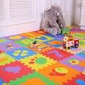 10 Pcs Puzzle de Espuma Bebê Esteiras Crianças Almofadas de Tapete Macio Chão Rastejando Espuma Eva Brinquedo Cobertor Do Bebê Esteira do Jogo Tapete Infantil Para Crianças presente