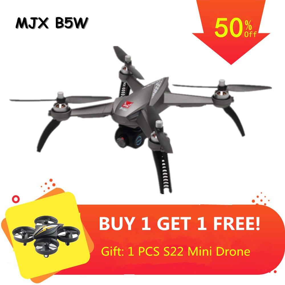 Drone MJX Bugs 5 W B5W RC avec 5G 1080 P Drone sans balai GPS suivez-moi Quadrocopter avec came RC quadrirotor VS JJPRO X5