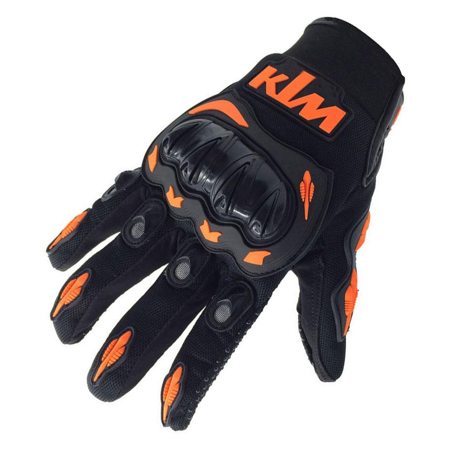 Driving gloves online shopping india - Hot Sale New Full Finger Ktm Motorcycle Gloves Motocross Luvas Guantes Green Orange Moto Protective Glove