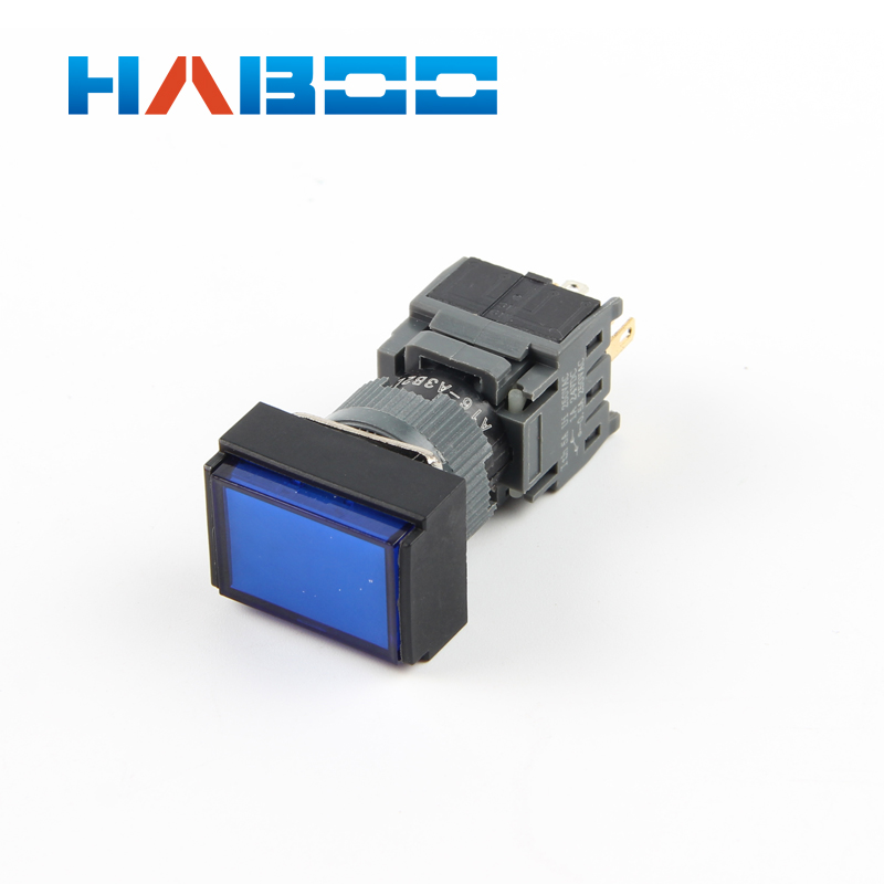 10pcs packing HABOO dia 16mm on off illuminated switch locking LED waterproof push button switch IP65