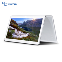 Yuntab K107 Tablet Android 5.1 touch screen 1280*800 Quad Core with Dual Camera and Dual Sim Card Slots 4500mAh battery(silver)