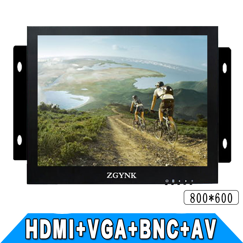 ZGYNK / 12 inch open industrial embedded monitoring metal shell VGA/AV/BNC/HDMI security LCD The monitor