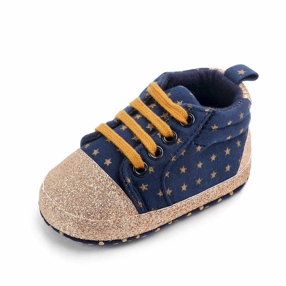 מותג תינוקות בלינג תינוק נעלי ילד ילדה נעלי 1 שנה פעוט סוליות רך תחרה עד נעליים הליכונים מוקסינים