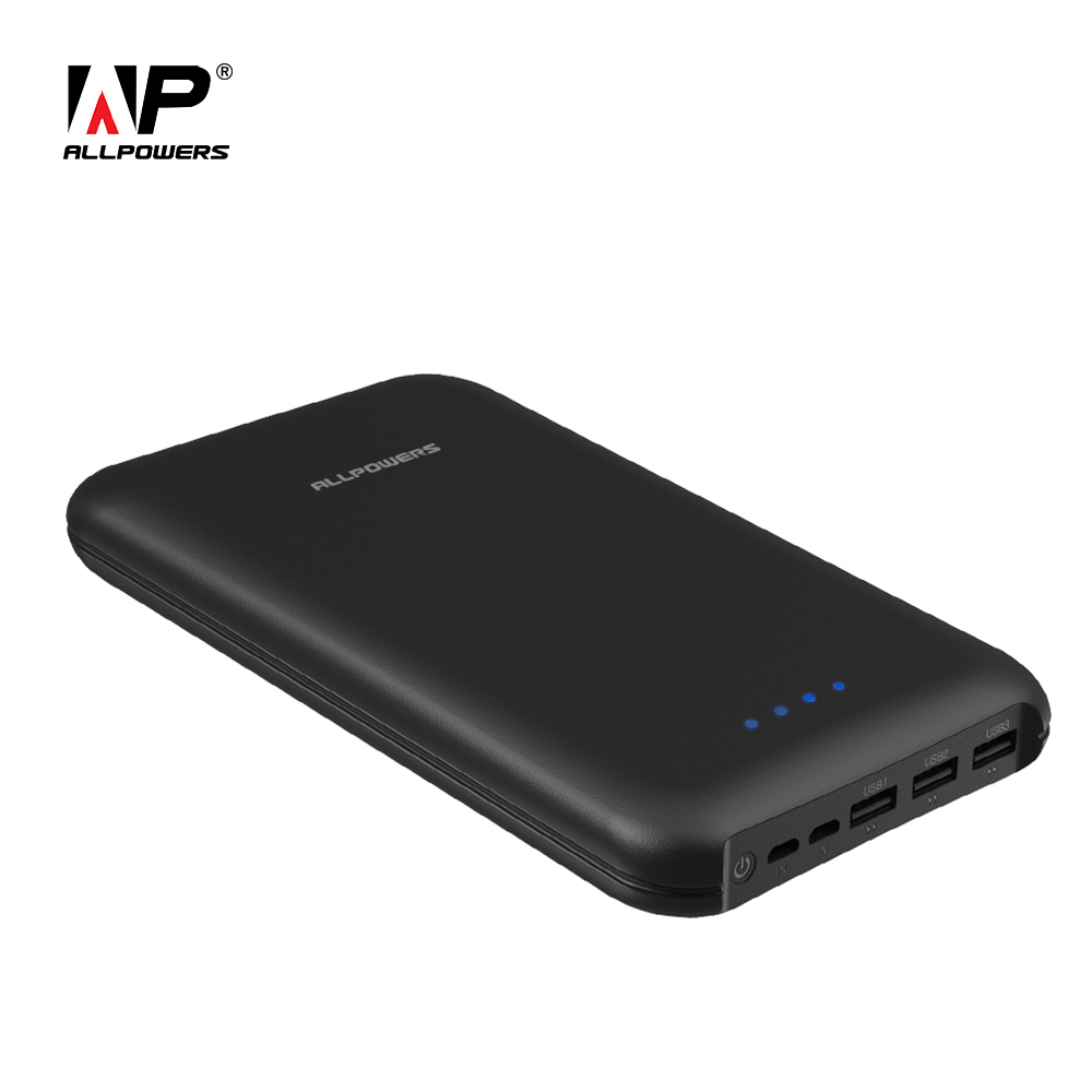 ALLPOWERS 30000 mah Power Bank mit Triple USB Ausgang, dual Input Tragbare Externe Batterie Pack Schnell Ladung für Handys