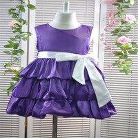 Retail FREE SHIPPING NEW 2013 Children Dress 1pcs Lot Girls High Grade Princess Dress Big Bowknot