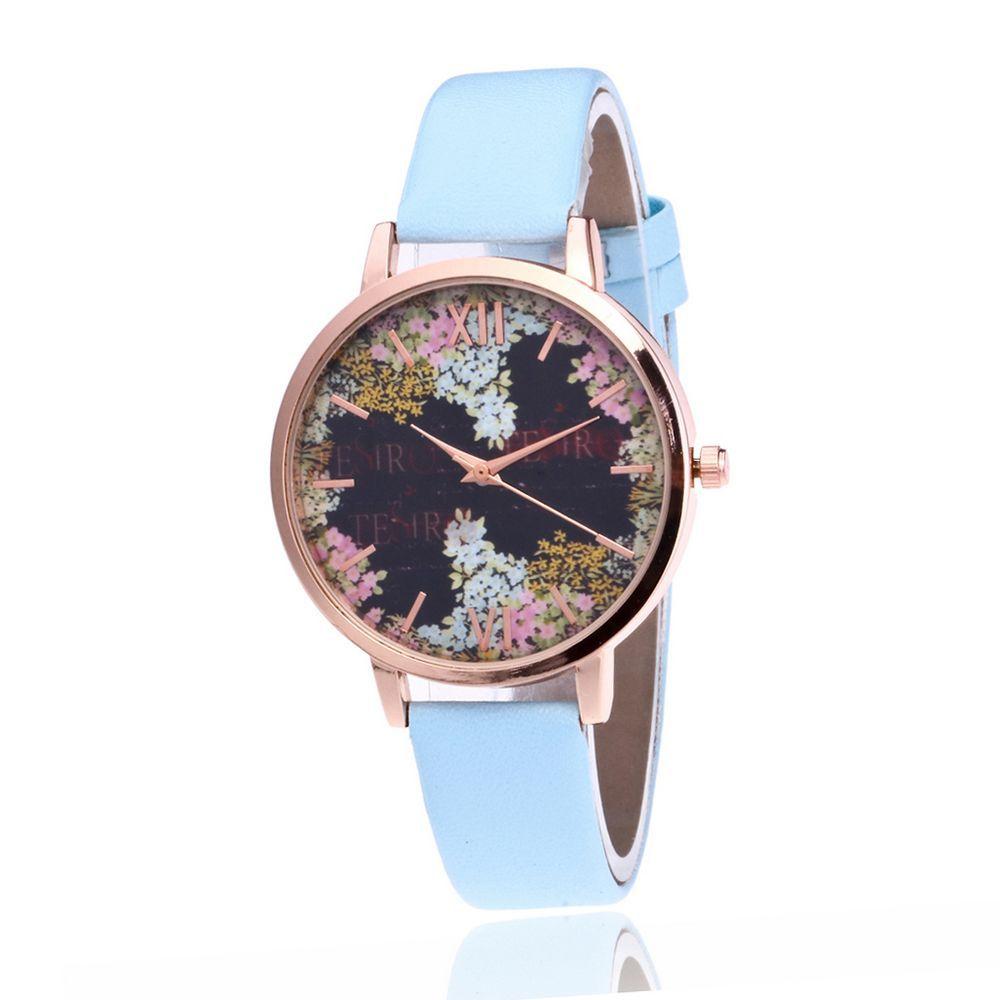 О Secret Garden модные женские туфли смотреть цветочным узором кожаный ремешок дамы кварцевые часы ручной часы Reloj Mujer римскими цифрами