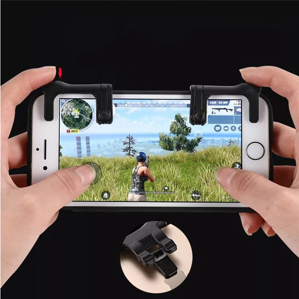 1pair Gaming Trigger left&right for 4.6-6.5 inch smart phone games Fire Button Key Handle touch Shooter Controller 3.0 version