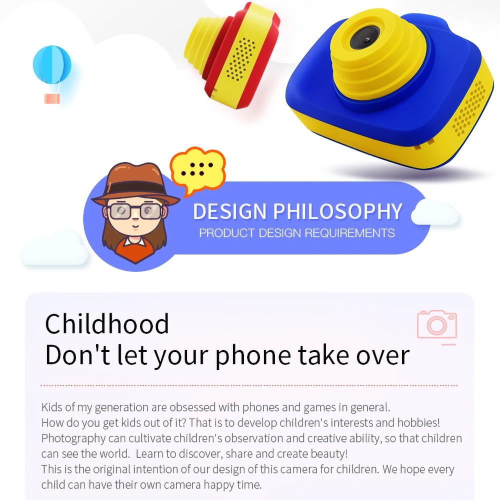 X-903 enfant en bas âge Mini caméra numérique enfants Double lentille HD Photo vidéo garçon et fille bande dessinée caméra enfants jouets cadeau éducatif - 5