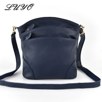 LUYO First Layer High Quality Genuine Cow Leather Shoulder Bags Flap Women Mummy Casual Messenger Bag