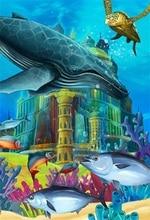 цены на Laeacco Sea Underwater Tortoise Whale Castle Baby Photography Backgrounds Customized Photographic Backdrops For Photo Studio в интернет-магазинах