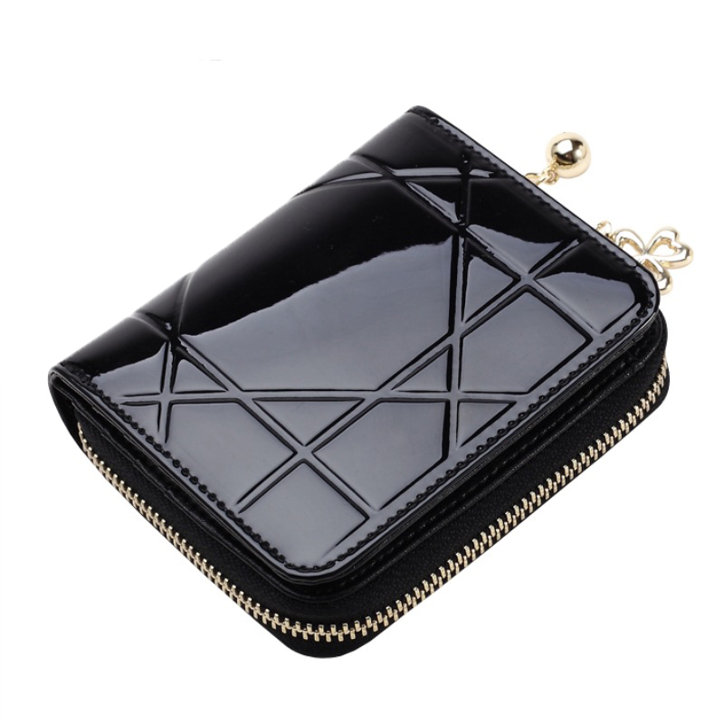 Women Wallet Leather Card Coin Holder Money Clip Short Tassel Clutch Three Fold Small Dollar Price Zipper Fashion Female Purse leeshang marvel captain america bi fold wallet dft 1007a for dft 1995 fold mini small wallet