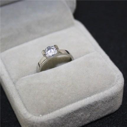 YUN RUO Roségold Silber Farben Luxus AAA Zirkonia Fingerring für Frau Mann Hochzeitsschmuck 316L Edelstahl nie verblassen