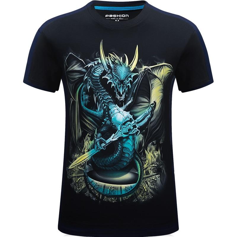 Neue 2017 3d lustige t-shirt männer animal print marke kurzarm - Herrenbekleidung - Foto 4