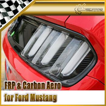 Car Styling For Ford 2015 Mustang Carbon Fiber Rear Tail Light Cover 2pcs