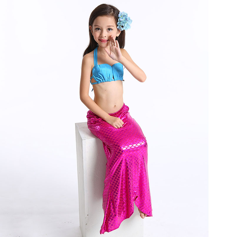 Mermaid Tail Swimming wear-rose blue 1