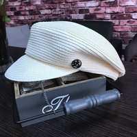 Octagonal cap twenty percent female in spring and summer fashion curved eaves newsboy cap leisure joker sunshade cap