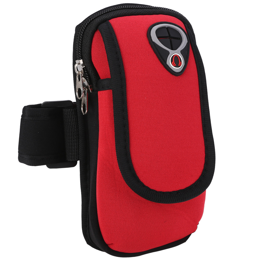 Sport Running Armband Mobile Phone Arm Pack Running Jogging Gym Exercise Sports Armband Bag with Headphone Jack