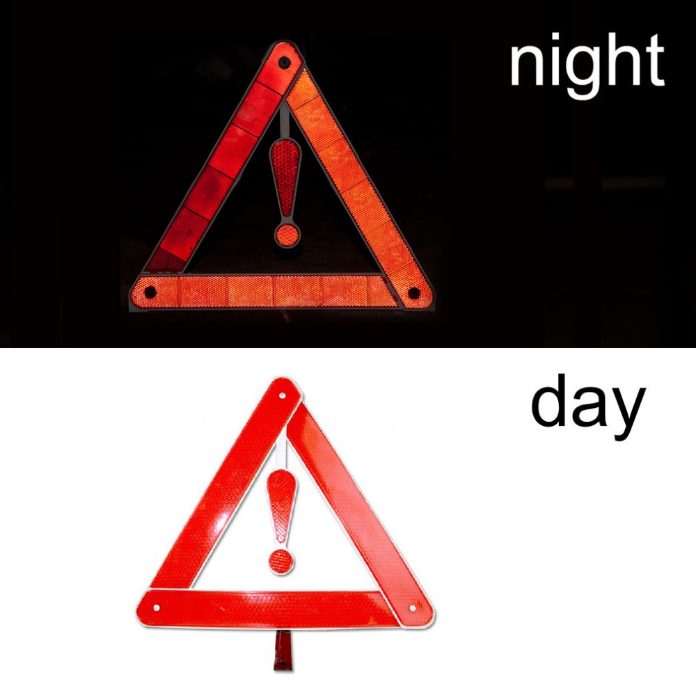 Car Auto Reflective Warning Board Stop Vehicle Danger Emergency Foldable Tripod Roadway Parking Safety Triangle Sign